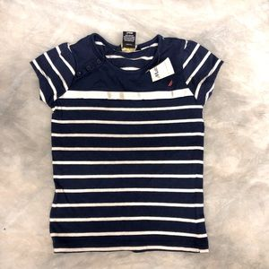 Nautica T-shirt with button detail